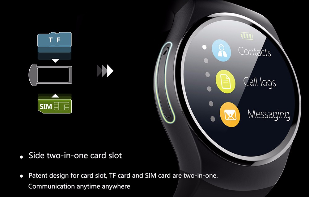 Smartch KW18 Smart Watch SIM TF MTK2502 Heart Rate Monitor font b Smartwatch b font Touch