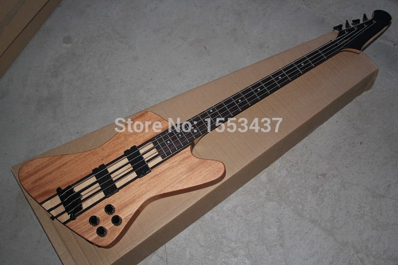 Free Shipping Thunderbird Classic IV burlywood Electric Bass guitar Custom one piece set neck 4 Strings Bass Guitar hott3