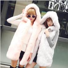 New 2018 Winter Women's Faux Fur Coat Artificial Fur Vest Furry Vests Femme Jackets Oversize Warm Fake Fur Gilet Z30(China)