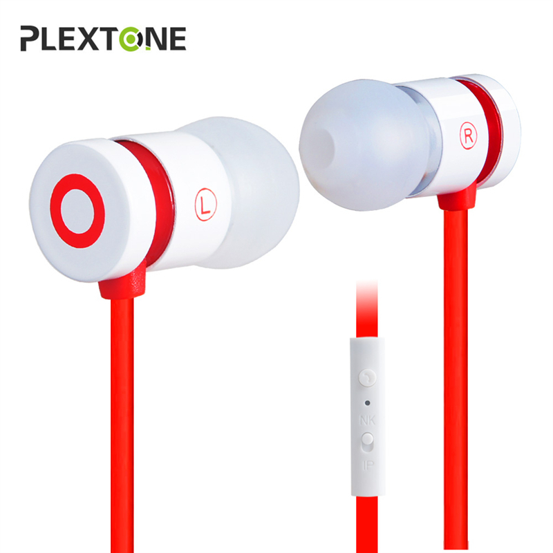 PLEXTONE X38M Noise Cancelling 3.5mm Jack High Quality Metal Earphones For iPhone 5S iPad Samsung LG HTC Moto OPPO Phone Earbuds golf baroque noise cancelling stereo sound 3 5mm jack music earphones for iphone 6 ipad samsung lg htc moto mobile phone earbuds