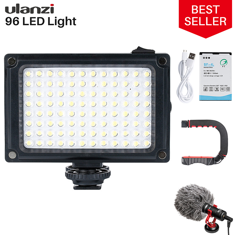 Ulanzi 96 LED Phone Video Light Photo Lighting on Camera Hot Shoe LED Lamp for iPhone Xs Max X 8 Camcorder Canon Nikon DSLR(China)