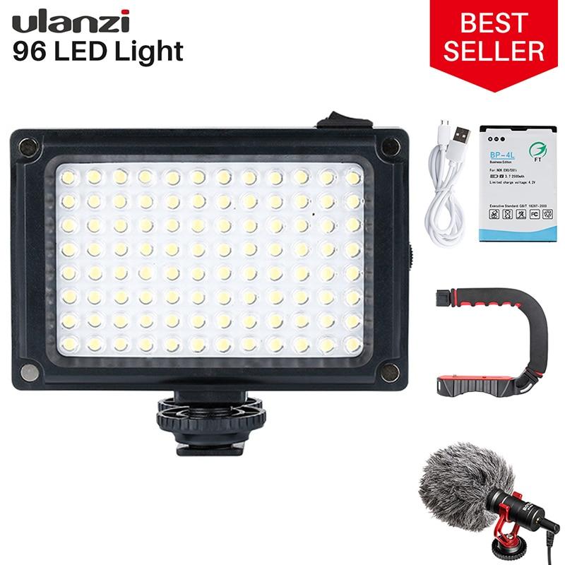 Ulanzi 96 DSLR LED Video Licht Auf Kamera Foto Studio Beleuchtung Heißer Schuh LED Vlog Füllen Licht Lampe für Smartphone DSLR SLR Kamera