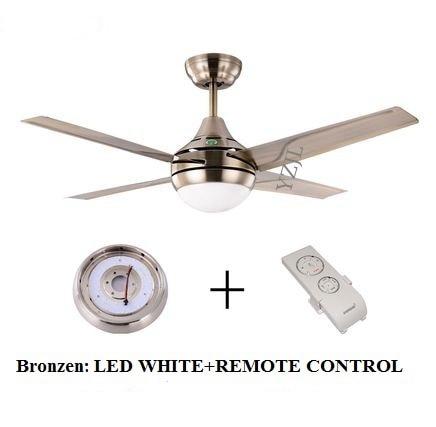 Modern Minimalist Stainless Steel Leaf 42inch LED Fan