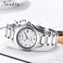 цена на SUNKTA Women Watches Luxury Waterproof Female Clock Fashion Montre Femme 2019 Quartz Casual Ladies WristWatch Relogio Feminino