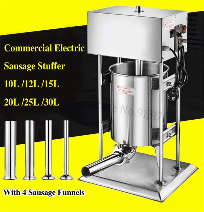 Heavy Duty Electric 12L Sausage Stuffer Meat Filling Machine Spanish Churros Extruder Stainless Steel Commercial Churro Maker
