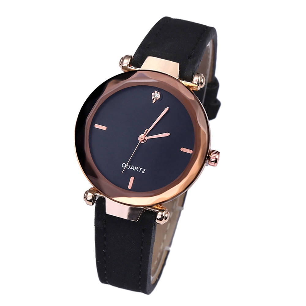 Woman Watch 2019 Leather Sport Waches Woman Rose Gold Leather Watches Women Ladies Casual Dress Quartz Wristwatch Reloj Mujer#08