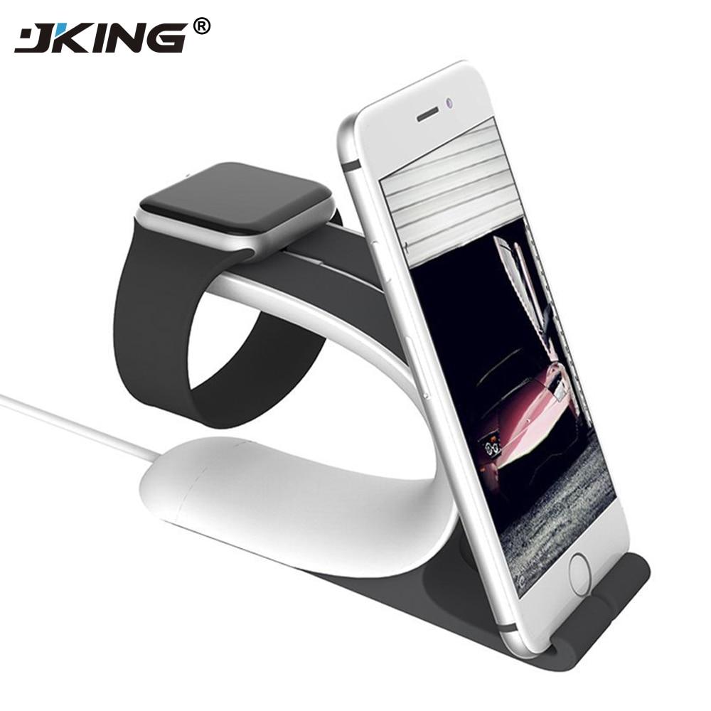 JKing 2 in1 для Apple Watch Подставка для зарядки крепление Charge Dock for iPhone 6S плюс iPad мобильного телефона Планшеты смартфон настольный держатель