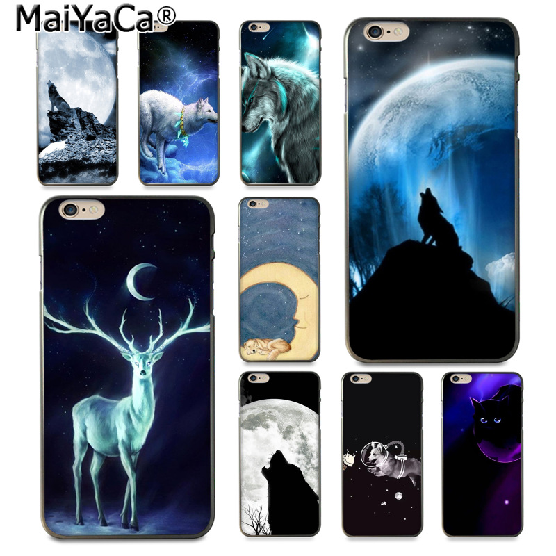Cellphones & Telecommunications Maiyaca Black Night Sky Moon With Wolf Deer New Arrival Fashion Phone Case For Apple Iphone 8 7 6 6s Plus X 5 5s Se Xs Xr Xs Max Utmost In Convenience