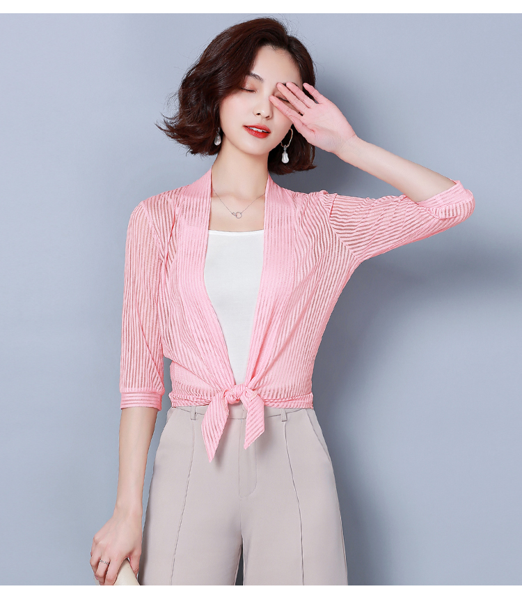 HTB1E3ifR7zoK1RjSZFlq6yi4VXat Women coats 2019 fashion ladies coats shirts short coats Solid Three Quarter office lady Open Stitch coats women 3723 50