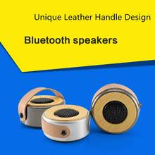 Itek Mini Metal Wireless Bluetooth Speaker Portable Super Bass Stereo Speakers Subwoofer with Leather Handle Support AUX TF Card
