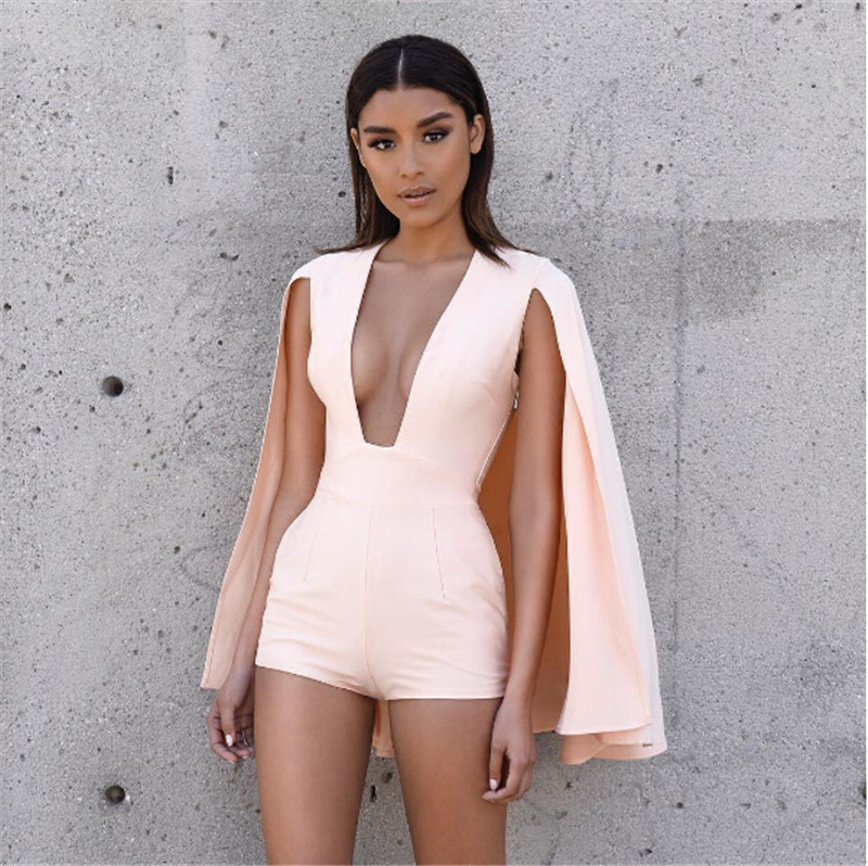 be27ef9275f8 2016 Summer Style Rompers Women Jumpsuit New Fashion Sexy deep v neck  jumpsuit romper pink Casual short overalls Bodysuit - TakoFashion - Women s  Clothing ...