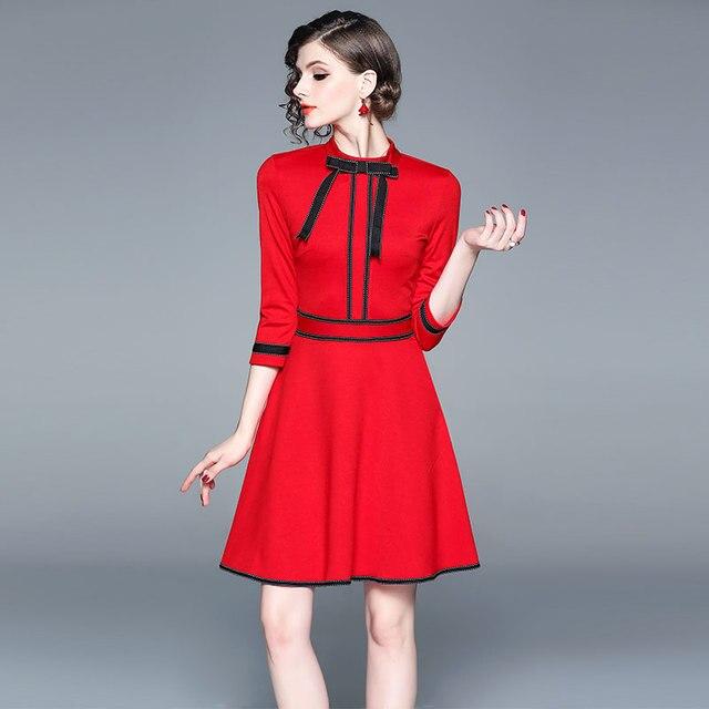 spring women party red christmas dress vestido invierno