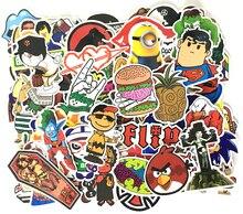 nk 300pcs set mixed hit pvc waterproof fun sticker toys the luggage stickers handbag decoration