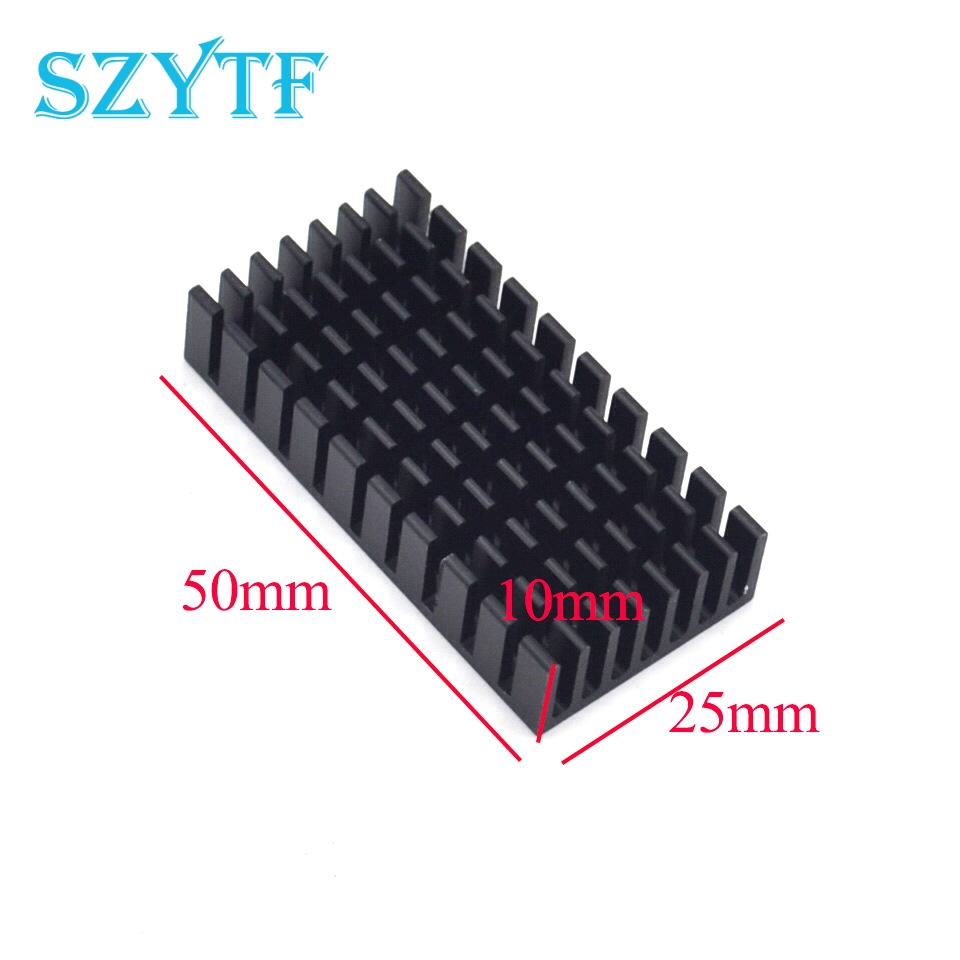1pcs Heat sink 50*25*10MM (black slot) high-quality radiator 1pcs heat sink 200 70 30mm silver high quality ultra thick aluminum radiator