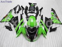 Green Black Moto Fairing Kit For Kawasaki ZX6R 636 ZX 6R 2009 2010 2011 2012 09 10 11 12 Fairings Custom Made Motorcycle