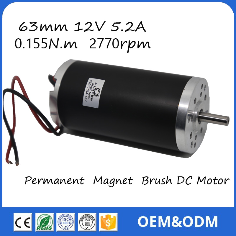 US $40 0 |63ZTY03A 12V 3000rpm 175W 0 4 N m 14 5A Permanent Magnet Brush DC  Motor for Electric bicycle or Motorcycle-in DC Motor from Home Improvement