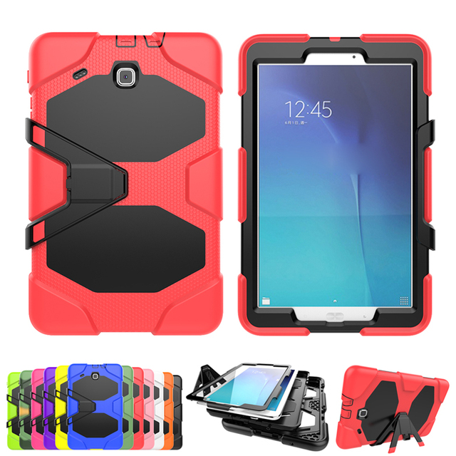 Shockproof Protective Case for Samsung Galaxy Tab E 9.6 T560 T561 Kids Luxury Heavy Duty with Stand Silicone Armor Back Cover