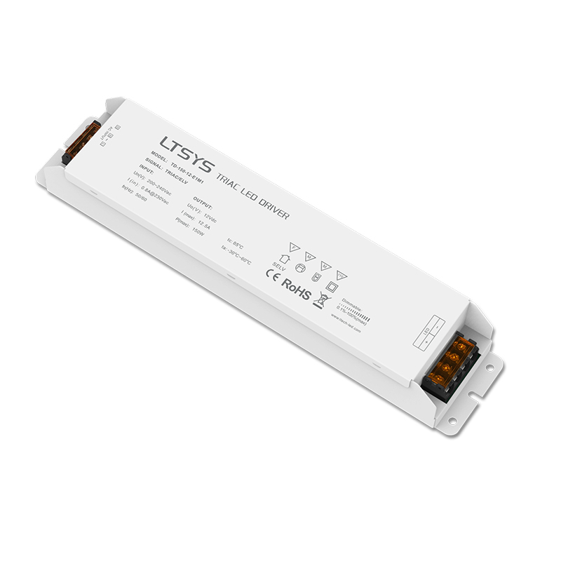 LTECH Triac Dimming Driver TD-150-24-E1M1;TD-150-12-E1M1 100-240V input,Output 150W Constant Voltage Triac Dimmable LED Driver free shipping triac 220v dimmable driver triac dimming led controller 1 channel 75w dm9123h t series
