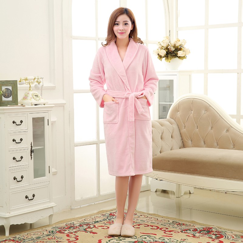 Unisex Mens Women\'s Long Polyester Sleep Lounge Robes RBS-C LYQ114 6