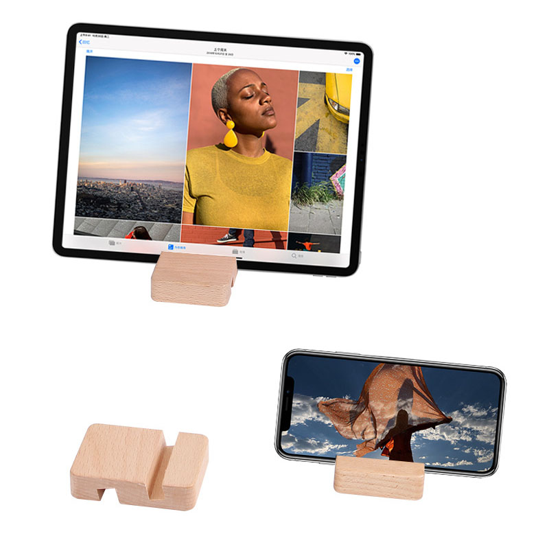 Smart Phone Holder Stand Portable Desk Cell Phone Wood Holder For IPhone IPad Tablet Xiaomi ZTE Desktop Stand Support