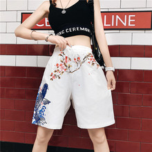 Plum koi Shorts Women Printed Drawstring Elastic Waist Women's Shorts Summer Beach Vacation Shorts black pleated design drawstring waist shorts
