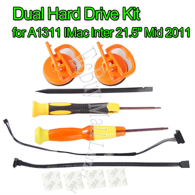 Brand new for A1311 IMac Inter 21.5 Mid 2011 Dual Hard Drive Cable/Kit 593-1296 brand new 593 1376 a for imac 27 a1312 mid 2011 dvd optical drive sensor