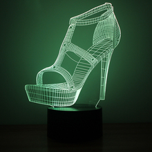 Creative 3D LED Table Lamp USB Visual Luminaria Bedside Night Lights For  Girls Gifts High Heels 531a58db11d5