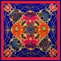 100% Twill Шелковый Шарф для Женщин Старинные Шарф Цветок Печати Люксовый Бренд Дизайнер Дамы Шарфы Женщин Хиджаб 100*100 см