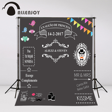 Allenjoy photocall para bodas wedding photo backdrop Custom toile de fond balckboard Sweet love chalkboard