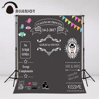 Allenjoy photocall para bodas wedding photo backdrop Custom toile de fond balckboard Sweet love chalkboard
