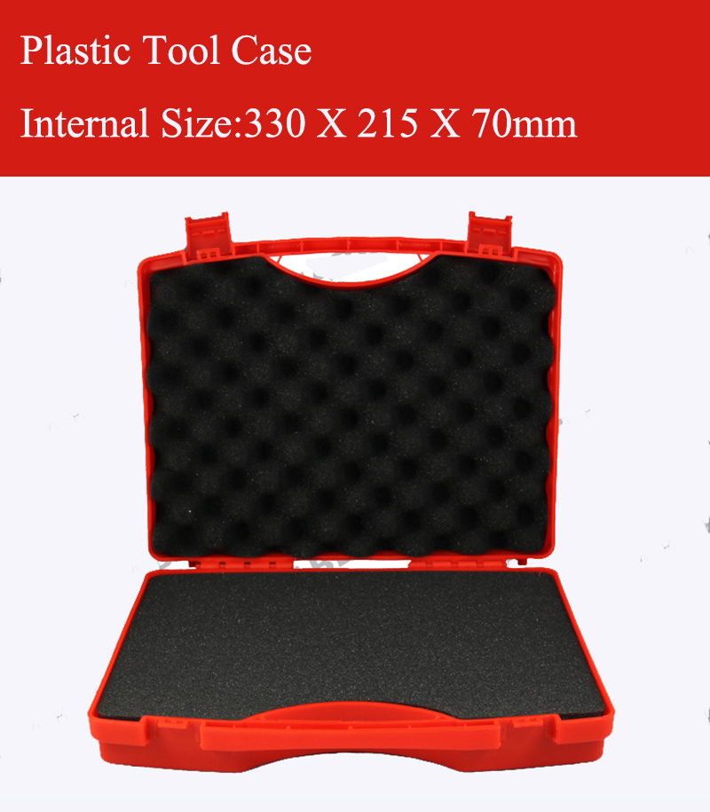 330X215X70MM Plastic Tool Case Suitcase Toolbox Impact Resistant Safety Case Equipment Instrument Box Equipme With Pre-cut Foam