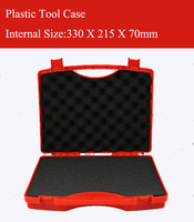 330X215X70MM Plastic Tool Case Suitcase Toolbox Impact Resistant Safety Case Equipment Instrument Box Equipme With Pre