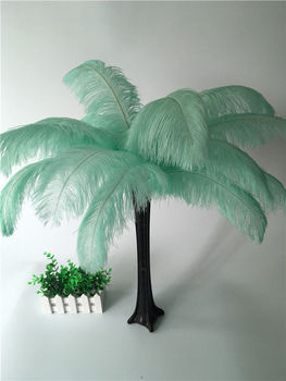 50pcs/lot mint green Dyed natural ostrich feather plumages ostrich feather plumes table centerpiece wedding decoration