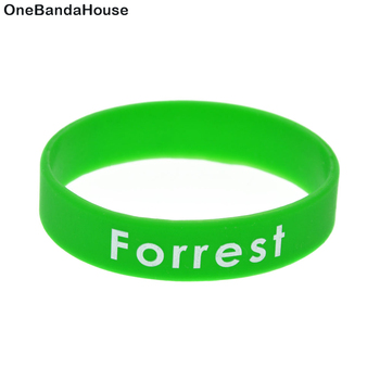 OneBandaHouse Green Environmental Slogan Bracelet Customize Logo Silicone Wristband