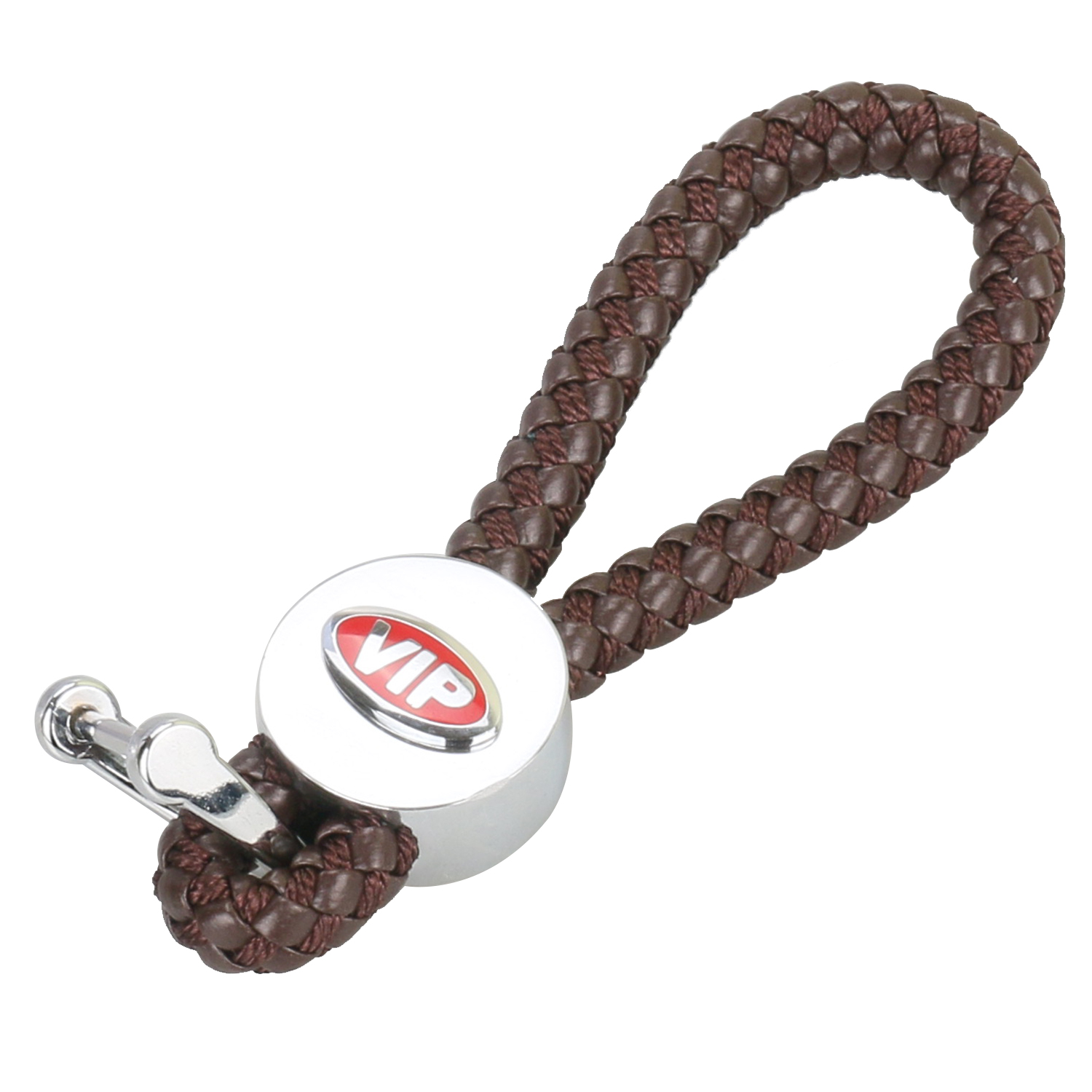 Car Styling Universal PU Leather Key Weave Keychain Auto Rope Key Ring Chain Grip Strap Chrome Alloy Buckle