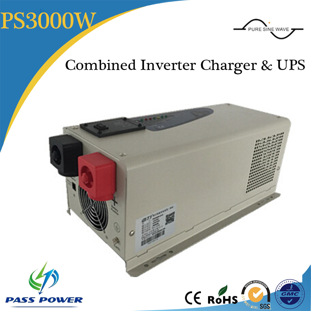 low frequency pure sine wave 3000w Hybrid solar inverter combined inverter and charger with UPS
