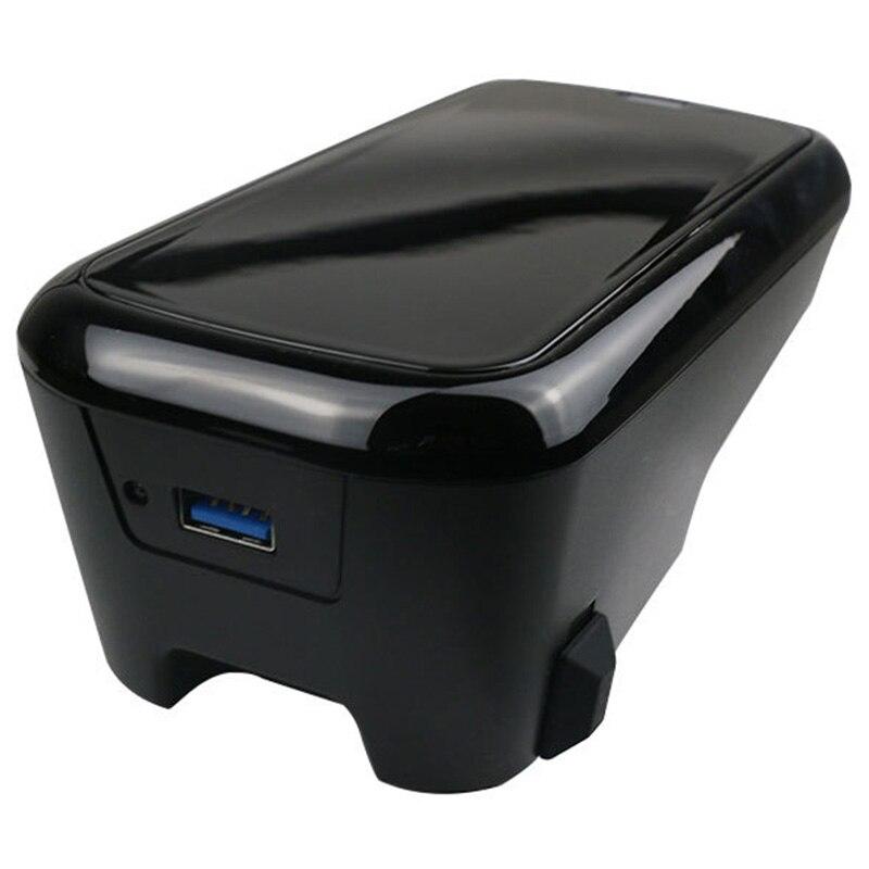 Carro qi carregador sem fio para volvo xc90 s60 xc60 s90 c60 v60 para o telefone móvel placa de carregamento - 4