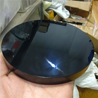 DHX SW 15 cm natural black obsidian plate fengshui scrying mirror black obsidian stone circle disk healing crystal gem stone