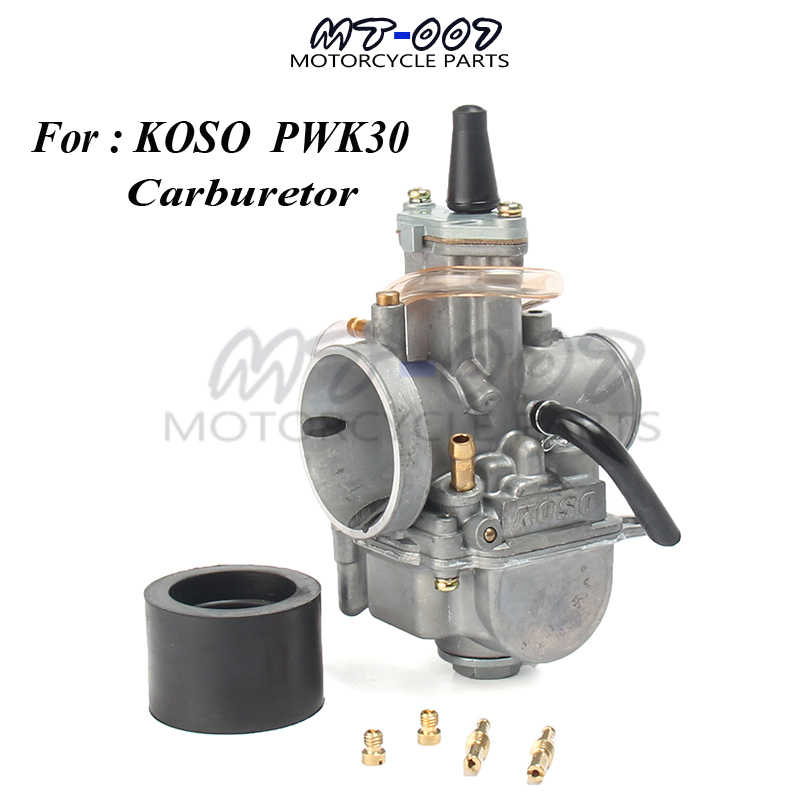 30mm Carb for keihin koso pwk30 carburetor Carburador with power jet fit on  2T/4T engine racing motorcycle
