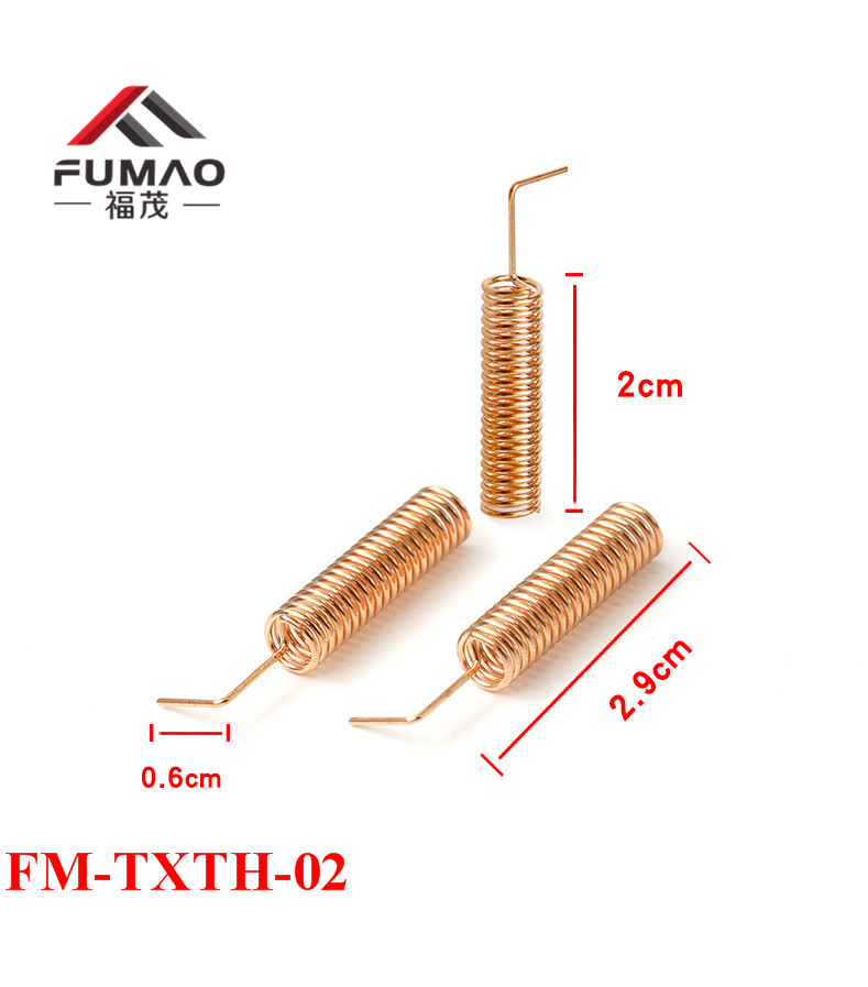 1pcs 433MHZ  Elbow Spring Antenna  433MHZ Copper Spiral Coil Wire Antenna 433 Antenna Motherboard Welding