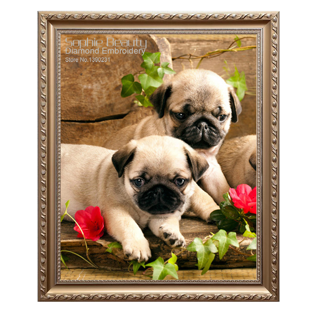 Dogs Portrait Diamond Painting Cute Different Kinds Of Dog Pet Embroidery Mosaic
