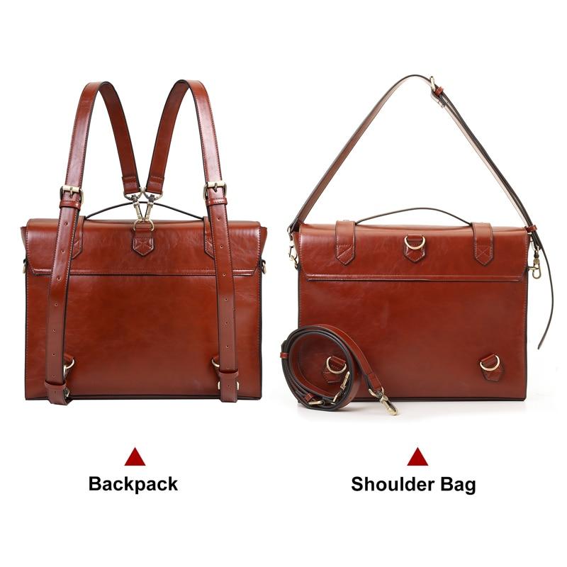 ECOSUSI New Design női Messenger táskák Vintage PU bőr táska - Kézitáskák - Fénykép 4