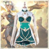 Game LOL Hero LUX Cosplay Costume New Spring Skin Goddess Uniform Halloween Costumes for Women Adult Full Set
