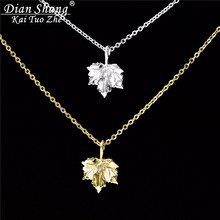 DIANSHANGKAITUOZHE Canada Jewelry Best Friend Necklace Gold Maple Leaf Stainless Steel Chain Necklace Pendant Kids Birthday Gift(China)