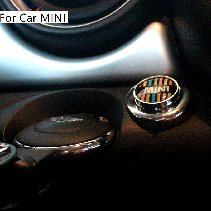 Metal Car Engine Start Stop Button Cover Keyless Go Ignition Stickers for MINI Cooper S Countryman R60 R56 R61 R55 R57 R58 R59