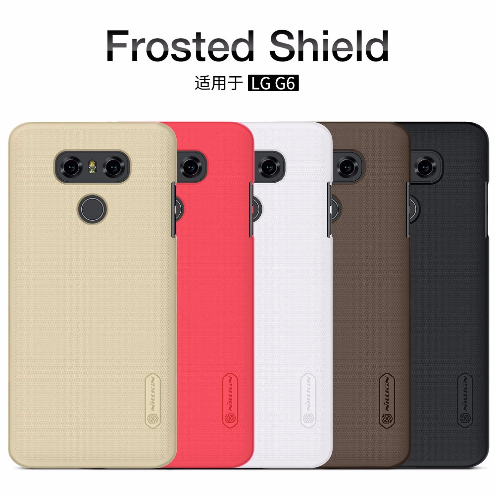 imágenes para 10 unids/lote Al Por Mayor de NILLKIN Súper Frosted Escudo Del LG G6 (5.7 pulgadas) Con Protector de Pantalla de Regalo