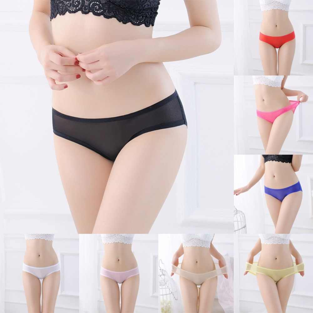692182967d9b ... Female Sexy Seamless Panties On For Women Slim Solid Briefs bragas  mujer Panty Ladies Transparent Underwear ...