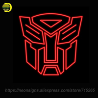 NEON SIGNS For Transformer Autobots Glass Tube Decorate Wall Store Display Brand Characte Neon Lamp Affiche