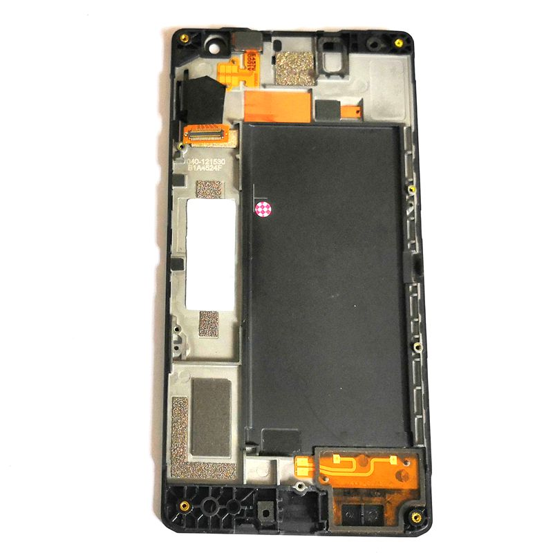 For Microsoft Lumia 730 RM-1038 1039 <font><b>1040</b></font> Lcd Screen Display+Touch Glass DIgitizer frame Full together Repair lumia 735 Lcds image