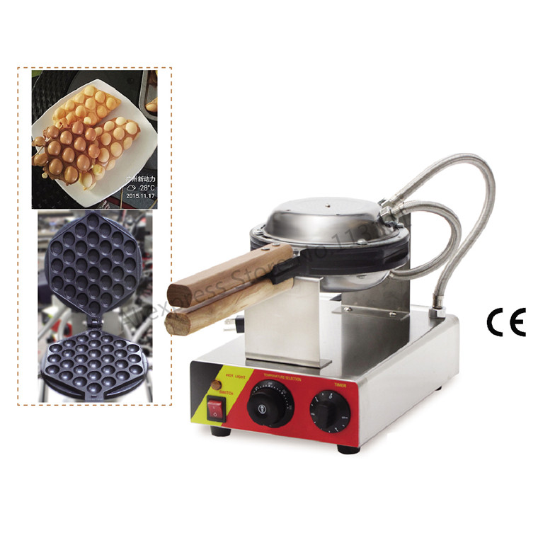 FREE SHIPPING_Electric Eggettes Maker QQ Egg Waffle Maker, Egg Puffs Machine, Rotated Waffle Pan Design free shipping stainless steel electric eggettes egg waffle maker rotated 180 degrees